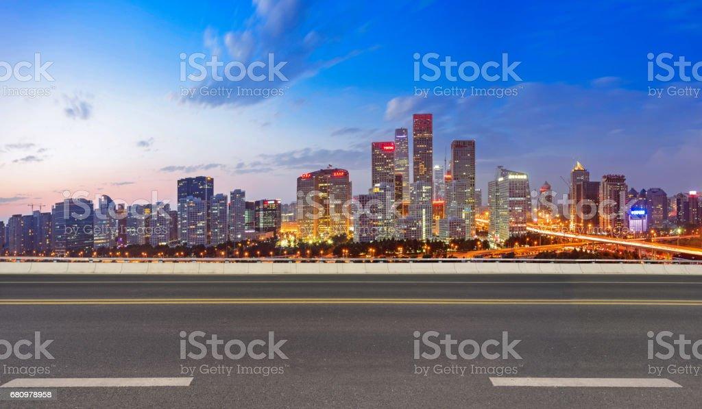 Empty Road in Beijing royalty-free stock photo