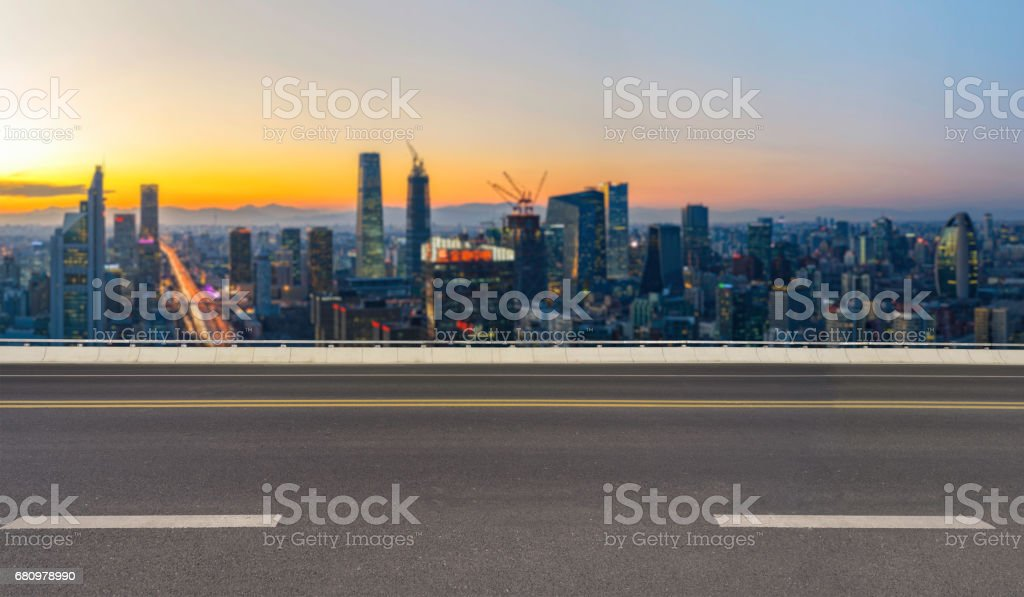 Empty Road in Beijing royalty-free stock photo