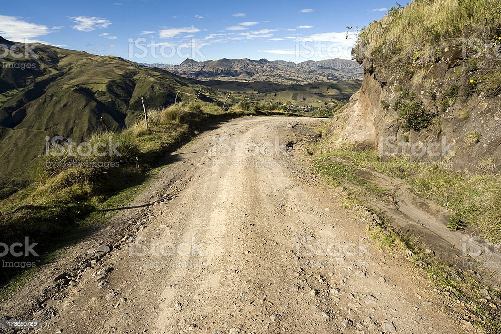 Empty road in Ecuador royalty-free stock photo