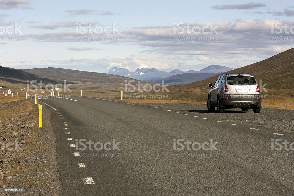 Empty road in Iceland royalty-free stock photo
