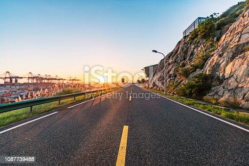 Empty road.