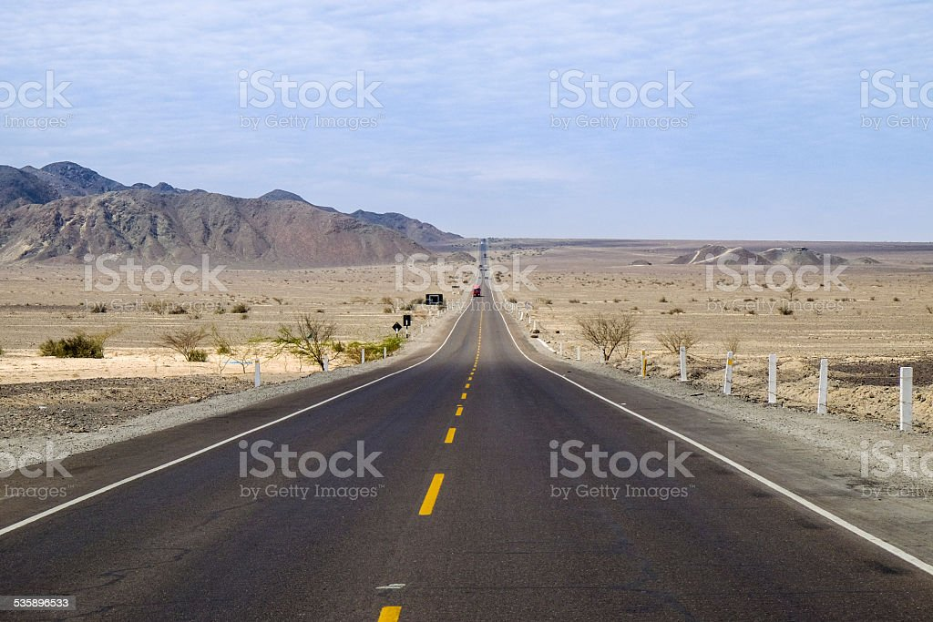 Empty Road in South America, Perù stock photo