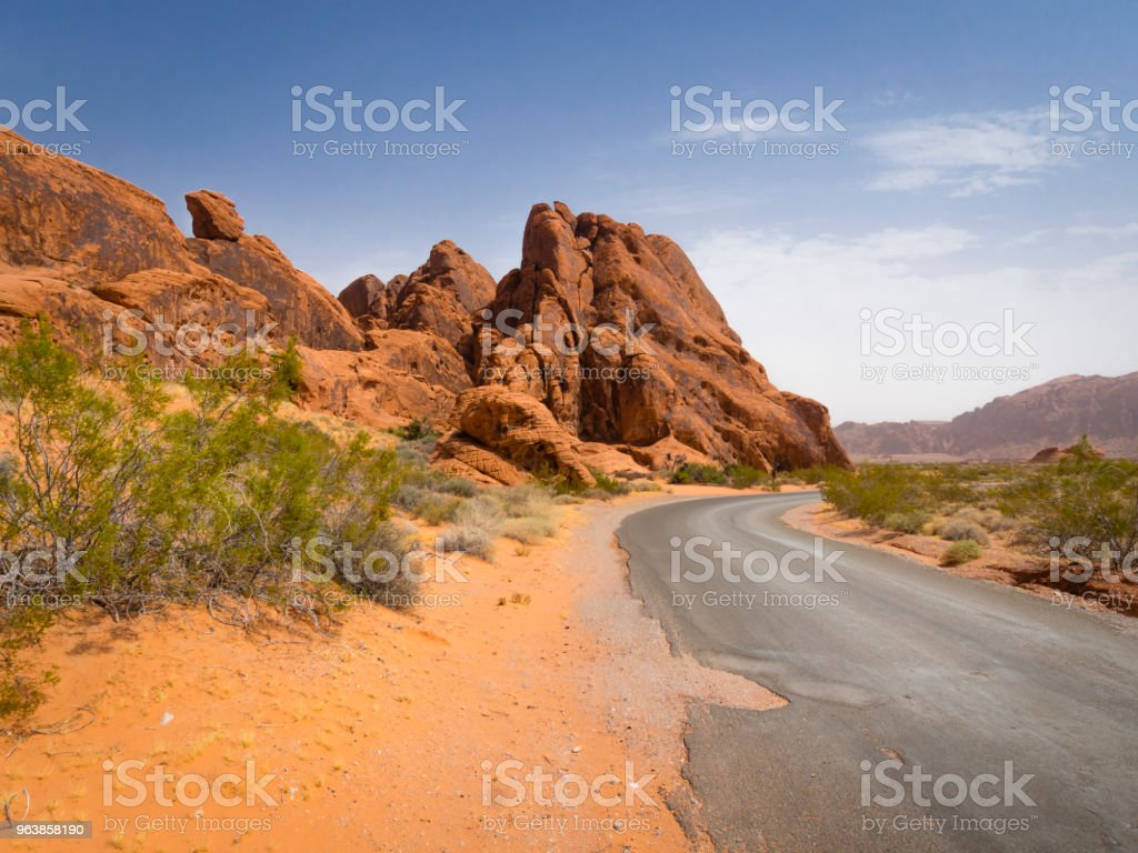 Empty road in the desert - Royalty-free Accidents and Disasters Stock Photo
