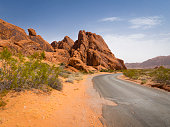 Rock formation in Valley of Fire State Park, Nevada, USA.