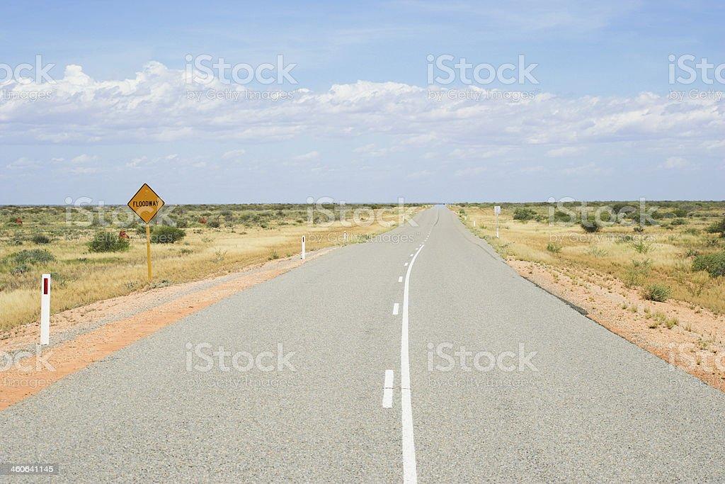 Empty road in Western Australia royalty-free stock photo