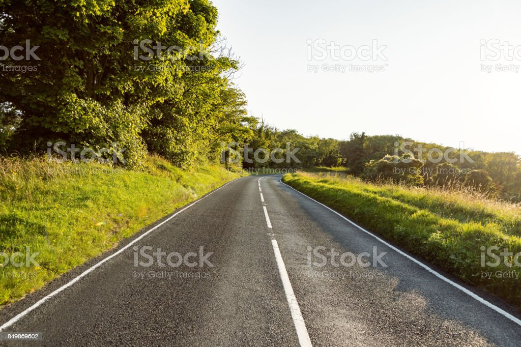 Empty road of freedom stock photo