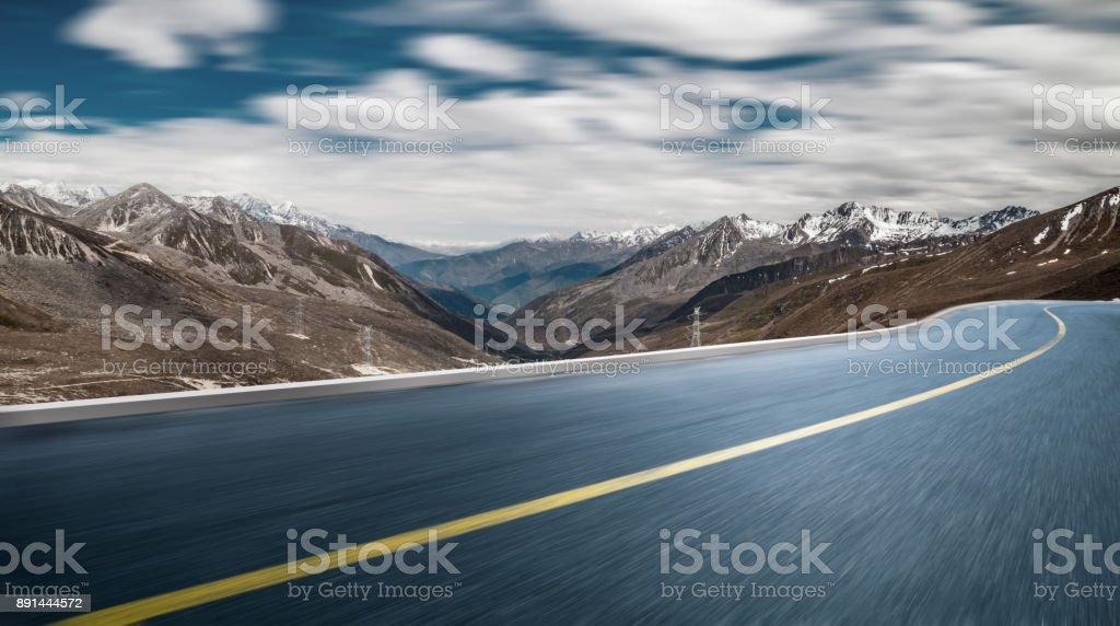 leerer Straße auf den Schneeberg – Foto