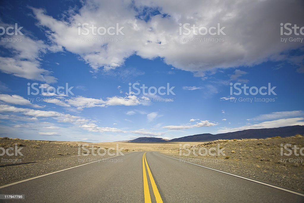 Empty Road stock photo