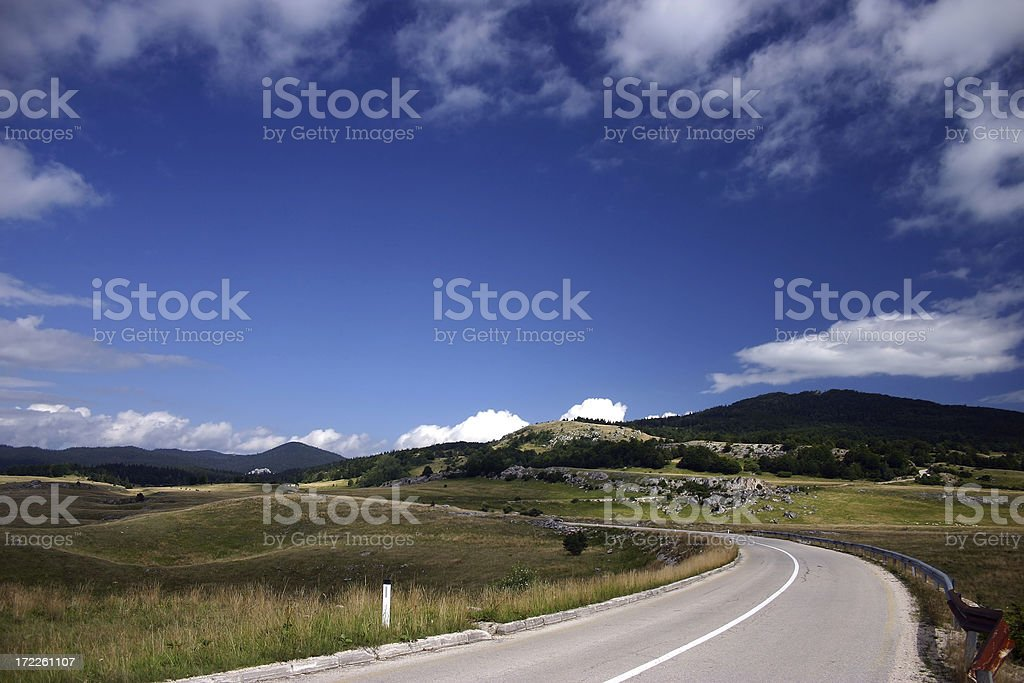 Empty road royalty-free stock photo