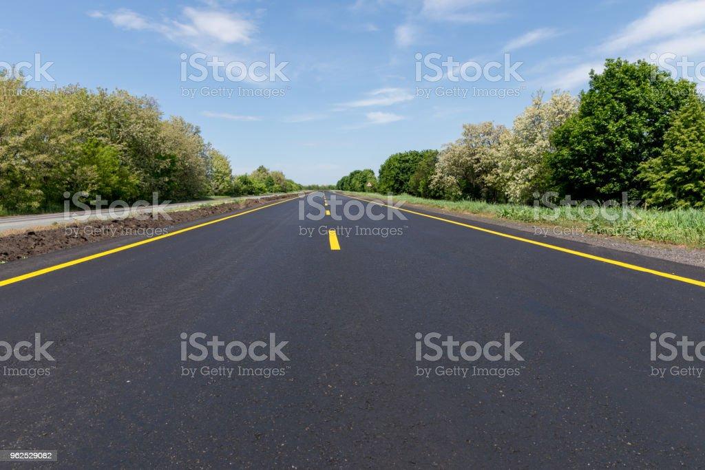 Vazia road - Foto de stock de Autoestrada royalty-free
