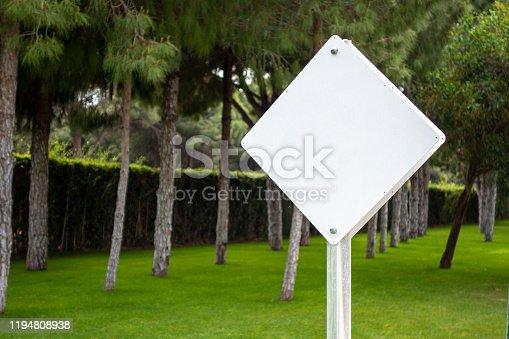 Empty road pointer