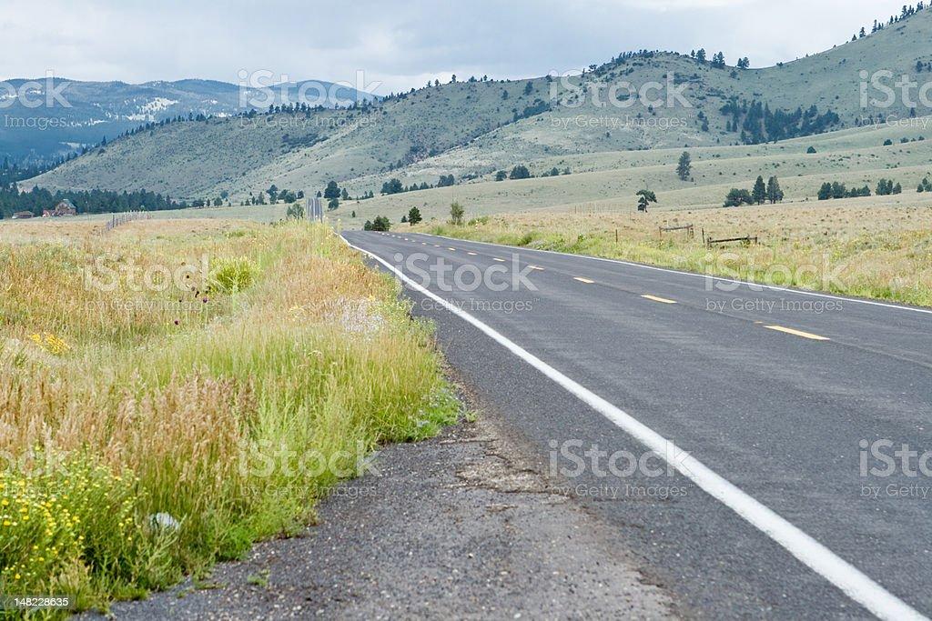 Empty Road Sangre De Christo Mountains New Mexico royalty-free stock photo