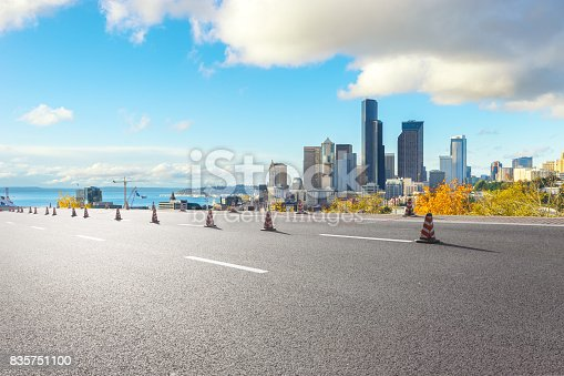 860403416istockphoto empty road with cityscape of modern city 835751100