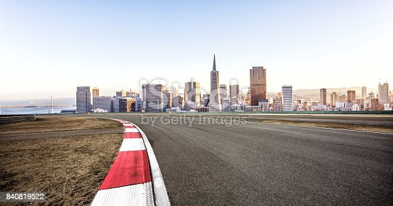 860403416istockphoto empty road with cityscape of modern city 840819522