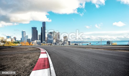 860403416istockphoto empty road with cityscape of modern city 840822516