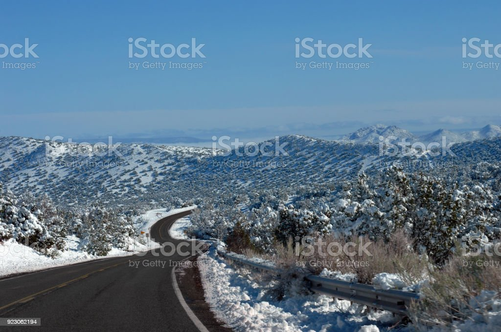 Empty Road with S Curve stock photo
