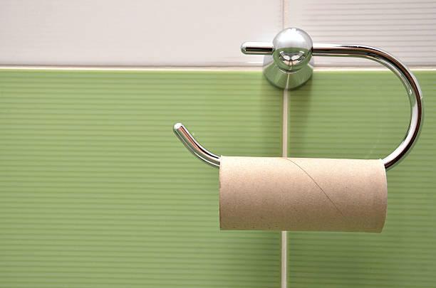Vacío Soporte para rollo de papel higiénico - foto de stock