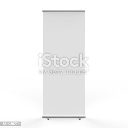 istock empty roll up banner 864035274