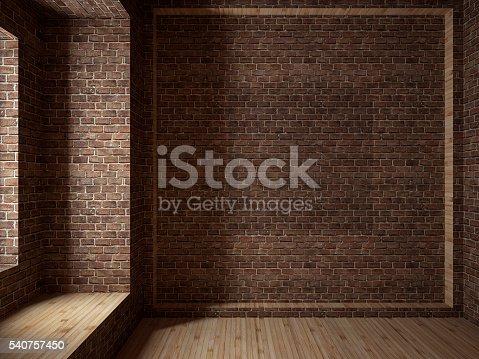 istock Empty room, 3D render 540757450