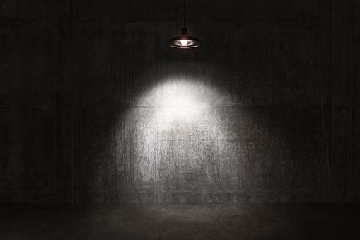 Empty room, concrete walls and floor.