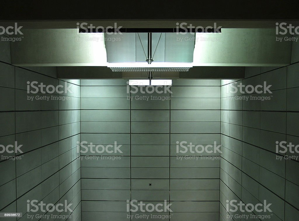 Empty room - detail from metro station royalty-free stock photo