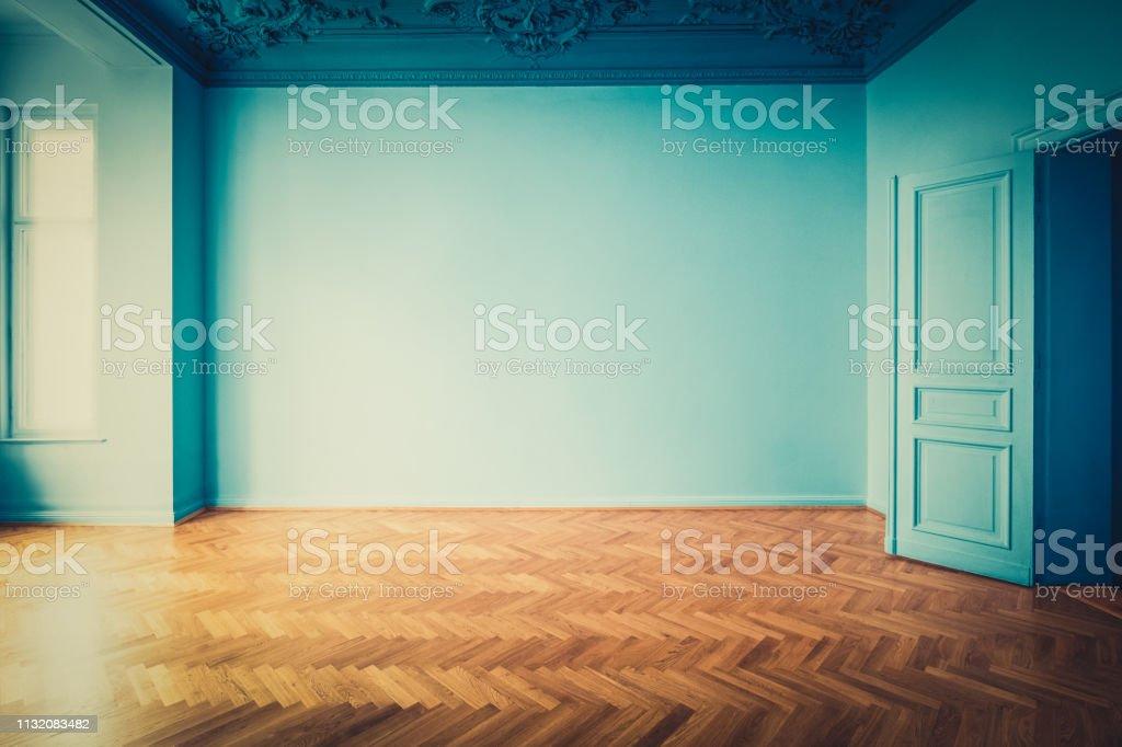 empty room historic old building restoration - interior renovation...