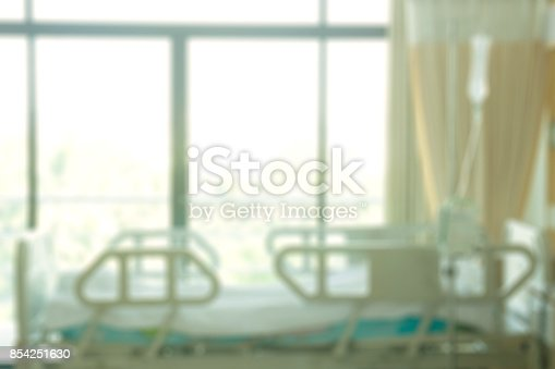 1127202747istockphoto empty room in hospital blurry background 854251630
