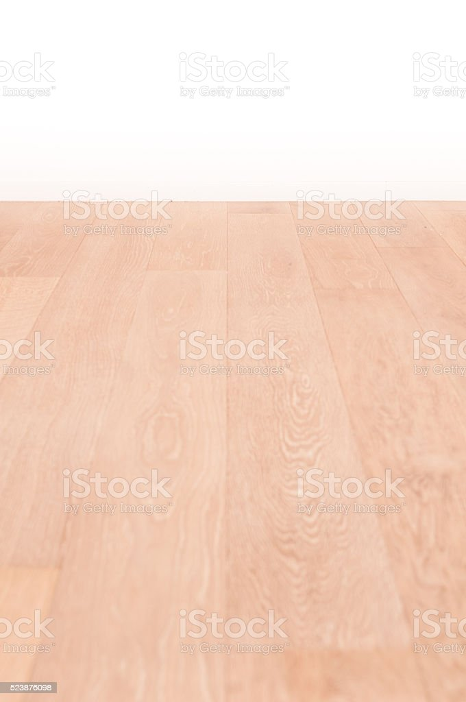 Empty room interior and wood floor with space stock photo