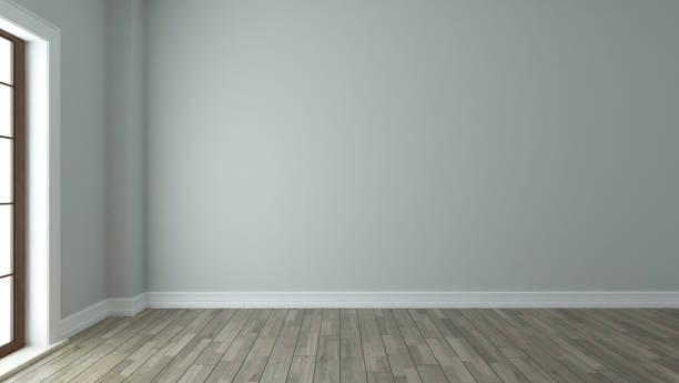 empty room interior design background stock photo