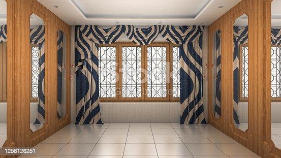 924294300 istock photo Empty Room Interior modern and luxury style. 3d Render 1258126251