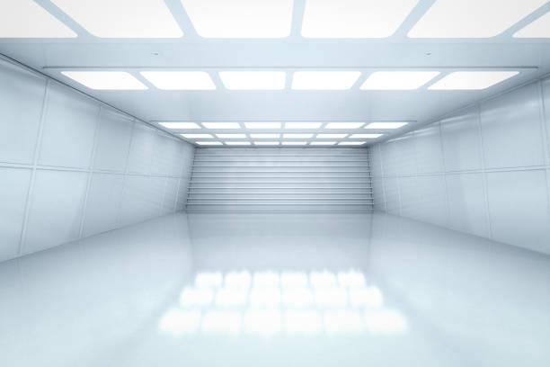Empty room interior stock photo