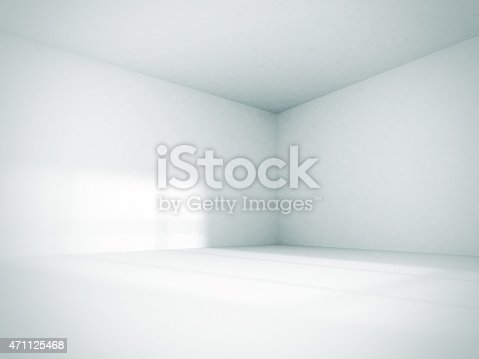 istock Empty Room Interior White Background 471125468