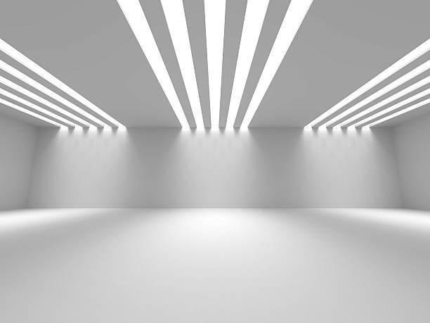 Leeren Raum Innenraum weißem Hintergrund – Foto