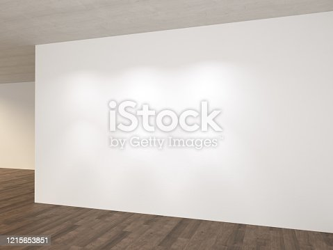 521806786 istock photo Empty room light reflection 1215653851