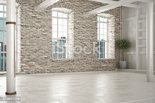 istock Empty room of business or residence 474641228