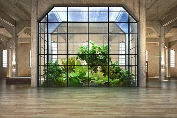 leeren raum unserer business oder residenz mit atrium-hintergrund - decke gebäudeteil stock-fotos und bilder