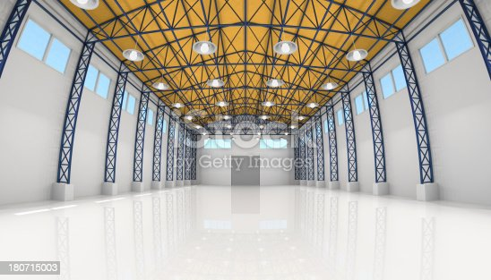 istock Empty Room of Modern Storehouse 180715003
