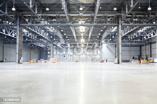 istock empty room of modern storehouse 182889465