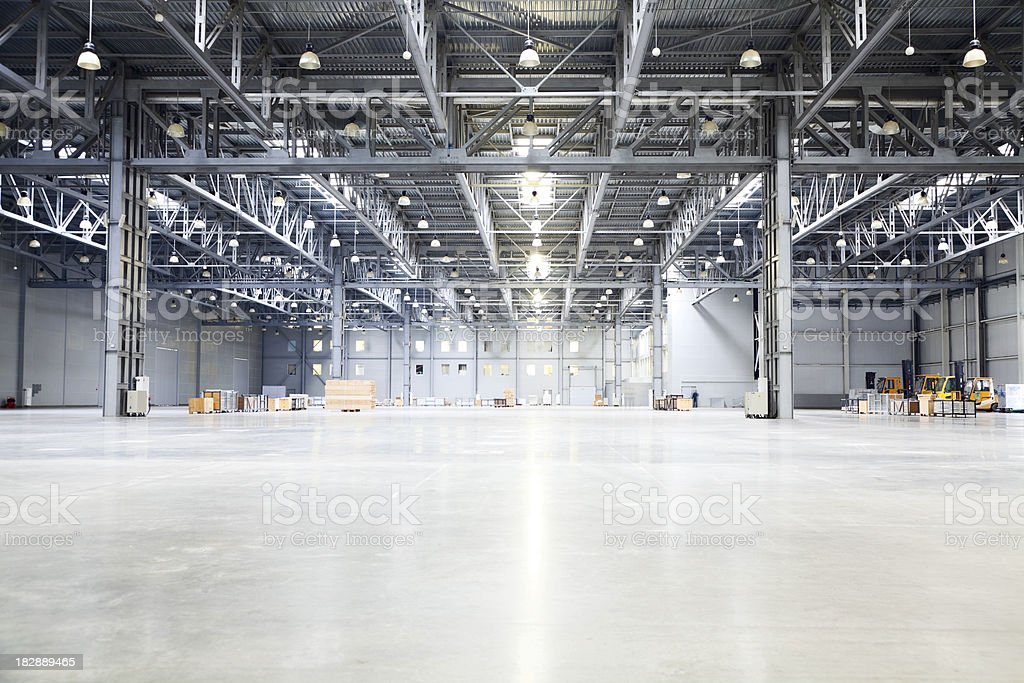 empty room of modern storehouse stock photo