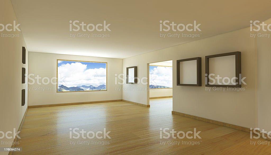 empty room presntation royalty-free stock photo