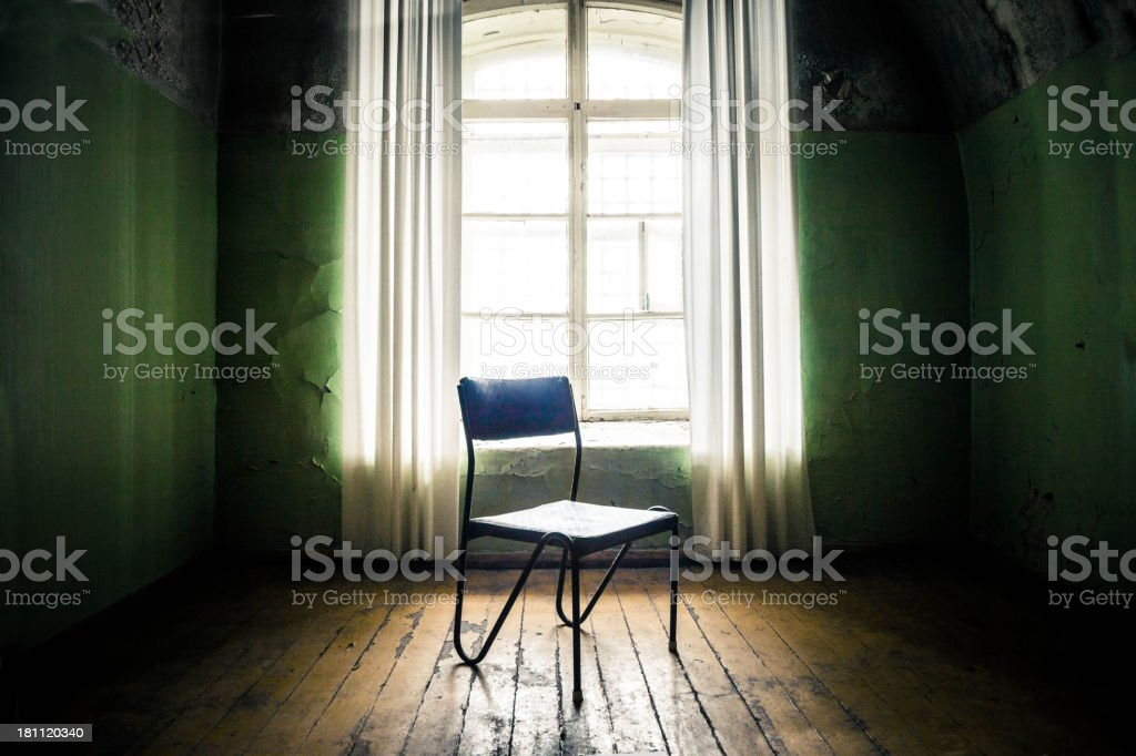 Empty room with a chair royalty-free stock photo