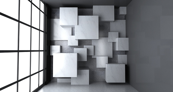 Copy space on the marble blocks surface.