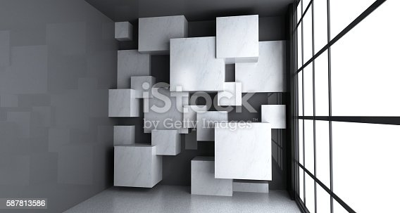 Copy space on the cubes clean surface.