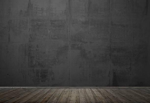 Leeren Raum mit dunklen Wand – Foto