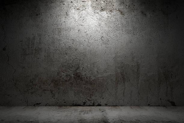 엠티 룸 그런지 콘크리트 벽 및 시멘트 바닥용 - 콘크리트 벽 뉴스 사진 이미지