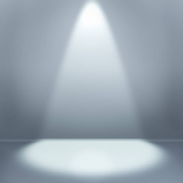 empty room with illumination - spot lit stock pictures, royalty-free photos & images