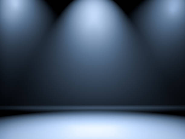 Empty room with illumination Spotlight, Performing Arts Event, Stage - Performance Space spot lit stock pictures, royalty-free photos & images