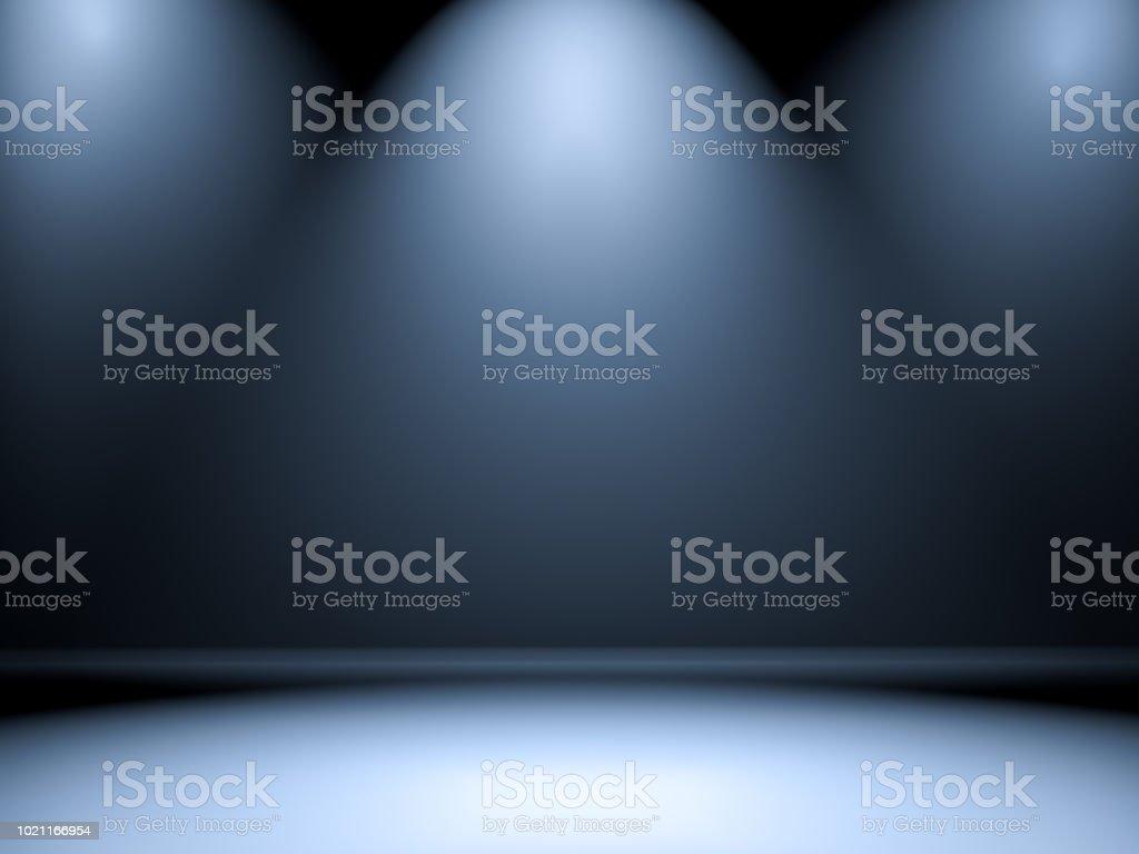 Empty room with illumination stock photo