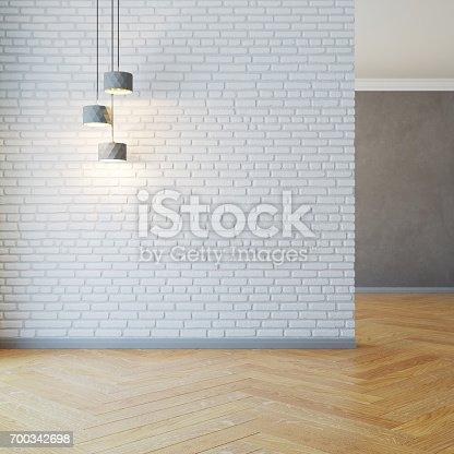 istock empty room with light 700342698