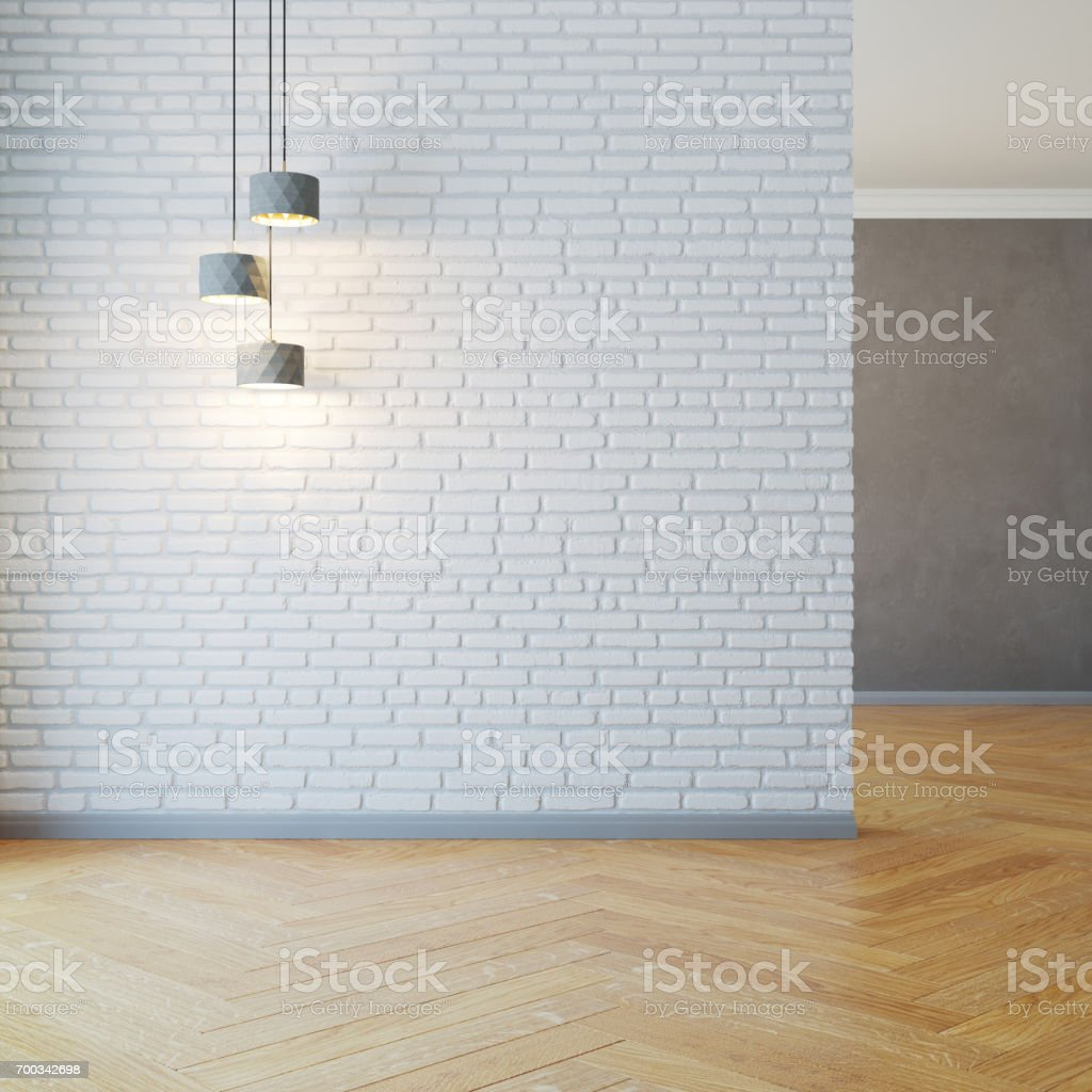 empty room with light stock photo